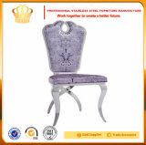 European Modern Design Silla de boda de acero inoxidable con cómodo cojín de cuero