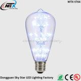 Muestra gratuita E26 E27 ST64 3W LED decorativa luz púrpura