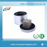 magneet van de Zeldzame aarde van de Kubus van de Ballen van 5mm Bucky Magnetische Magische Bucky met de Doos van het Tin