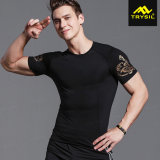 Usure de sport de survêtement de pantalon court de réservoirs de chemise de compactage d'hommes