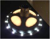 Indicatore luminoso solare del giardino del UFO