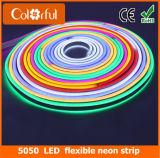 Luz de tira de néon flexível do diodo emissor de luz da promoção grande SMD5050 RGB