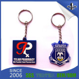 Выбитое оптовой продажей keychain логоса PVC для выдвиженческого