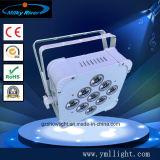 9PCS 9W 3in1 RGB LED flacher dünner NENNWERT kann mit batteriebetriebenem Radioapparat DMX NENNWERT Licht