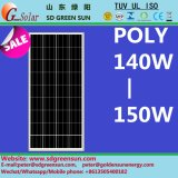 18V 140W-150W Poly Solar Cell Panel