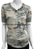 여자를 위한 새로운 디자인 위장 t-셔츠는을%s 가진 다 탄다