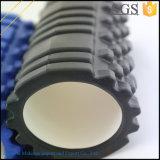 Negro rodillo de espuma de alta densidad para masaje muscular