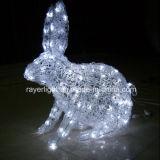 3D 토끼 모티브 라이트는 파티와 크리스마스 장식을 LED