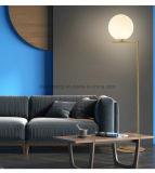 Illuminazione semplice del pavimento della casa della decorazione della lampada di pavimento del metallo e di vetro della sfera rotonda