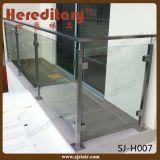 Barandilla de cristal del acero inoxidable 304 del espejo del satén del pasamano montado en la pared del balcón (SJ-H053)