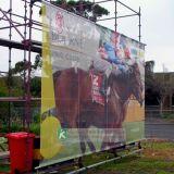 Echafaudage des protections de mailles, bannière en maille de construction géante