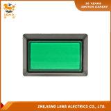 Vert en plastique Pbs-007 de commutateur de bouton poussoir de rectangle électrique pour la machine de jeu