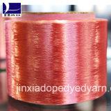 Hilados de polyester teñidos droga del filamento 750d/288f de FDY