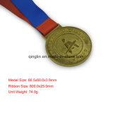 Горячий продавая изготовленный на заказ медальон круглой формы покрынный золотом