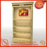 Exhibición de muebles de madera Soporte de pantalla