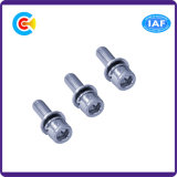 Acier inoxydable M12 Hexagon Groove Cheese Head Screw Galvanized Combination
