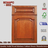 Alto diseño de madera brillante de la puerta de cabina de cocina (GSP5-032)