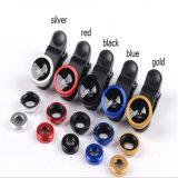 Universal caliente 3 de la venta en 1 conjunto lente de cámara macra granangular del teléfono móvil de Fisheye de 180 grados para el teléfono móvil