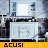 アメリカの卸し売り簡単な様式の白い純木の浴室の虚栄心(ACS1-W13)