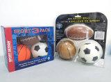 Jogo de bola de brinquedo esportivo para crianças (futebol, futebol e basquete)