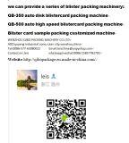 Papercard de aislamiento auto y empaquetadora de la ampolla del PVC para la solución del embalaje
