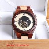 O mais recente relógio de madeira automático Fashinoable com correia de madeira Fs658