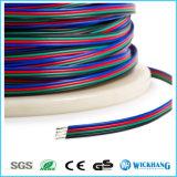 4 Kabel van de Schakelaar van de Draad van de Uitbreiding van de speld RGB voor RGB LEIDENE Lichten van de Strook