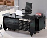 Bureau de bureau supérieur en verre Meuble de bureau en métal (HX-GL016)