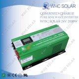 C.C. de 12V 24V 48V ao inversor puro da potência da onda de seno 2000W da C.A. de 110V 220V