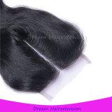 Brasilianisches gerades mittleres Trennspitze-Oberseite-Schliessen-Haar