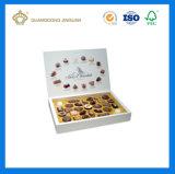 Boîte de luxe divisée à truffe de chocolat de fantaisie de cadeau de carton (usine d'OEM de la Chine avec le certificat de FSC)