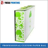 Aufbereitete PapierEinkaufstasche für Milch, Verpacken der Lebensmittel