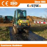 Nova construção plástica de aterramento de lama de HDPE com tapete de Estrada