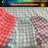 Poliéster + Nylon Mixed Check Fabric, Crinkle Gingham Beach Pants Fabric (YD1122-Green)