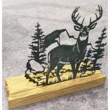 Zinn-Metallhölzerne Tisch-Dekoration-Elch-Plakette