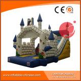 子供のワニの弾力がある城のスライドの膨脹可能な催し物のスライド(T4-613)