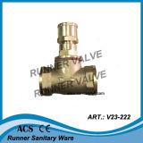 Messingabsperrventil für Wasser-Messinstrument (V23-221)