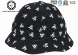 2016 Nouveau chapeau style Black White Graffiti Zipper Bucket Hat