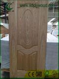 Peau de porte moulée par placage en bois de /Teak HDF de chêne marché pour Irak, Moyen-Orient