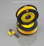 配線のアクセサリ(ケーブルのマーカーかバンドを包むタイの台紙または螺線形)