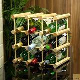 Fabrik-umreiß-Wein-Ausstellungsstand mit natürlichen hölzernen bunten Stöcken