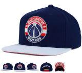 Tampão do chapéu do Snapback do algodão do bordado da equipe de esporte 3D do vintage dos EUA