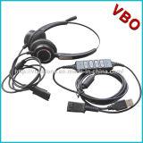 Neuer binauraler Kundenkontaktcenter 2017 USB-Kopfhörer mit den Geräuschen, die Mikrofon beenden