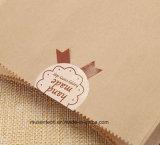 Sacco di carta del Brown di qualità accettabile 80g di stampa di marchio per alimento