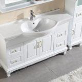 Gabinete de luxe da vaidade do banheiro da madeira contínua