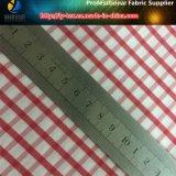Rojo guinga nilón hilo de estiramiento teñido cheque camisa de tela (yd1166)
