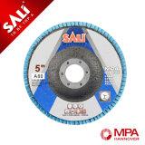 rueda de aluminio de la solapa del Zirconia de la arena 120 de 125m m para polaco