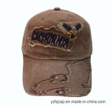Крышка изготовленный на заказ хлопка Burshed бейсбольной кепки крышки вышивки выдвиженческая резвится бейсбольная кепка вышивки