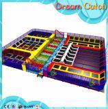 Aço galvanizado de interior Kids Soft Play Trampoline