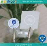13.56MHz Ntag216 collant de papier bon marché fait sur commande de l'IDENTIFICATION RF NFC